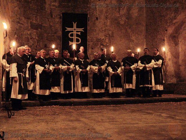 Mönchszug in der Klosterkirche